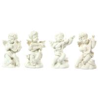 树脂天使丘比特小石膏头像 美术绘画画像家居装饰摆件4个装