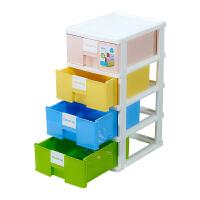 多层收纳箱抽屉式收纳柜儿童储物柜子宝宝衣柜婴儿玩具整理箱 四色组合【颜色随机】 4个