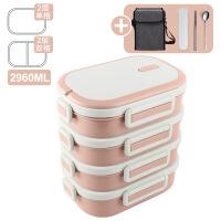 304不锈钢饭盒多23层超长保温桶上班族女便当盒学生餐盒分格1人
