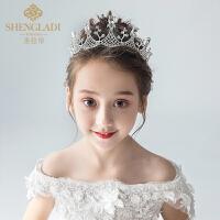 儿童皇冠头饰公主水晶发箍女孩生日演出礼服发饰