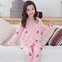 儿童睡衣女春秋季长袖女童宝宝家居服中大童女孩可爱公主套装