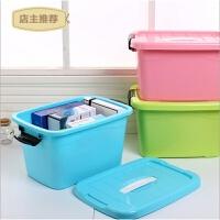 塑料特大号收纳箱化妆品整理盒玩具储物箱透明收纳盒周转箱有盖SN5373