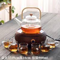 日式电陶炉煮茶器普洱黑茶白茶泡茶壶侧把壶玻璃煮茶炉花茶壶家用