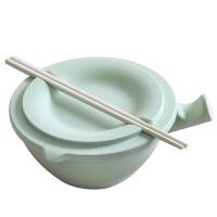 日式泡面碗���w比陶瓷好家用大碗大�吃泡面杯�W生宿舍用碗筷套�b