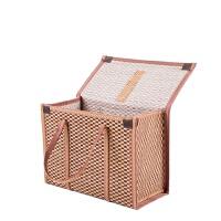 腊肉手提袋 年货包装可折叠竹编手提竹篮礼盒腊肉水果香肠粽子竹制品包装礼盒 BX