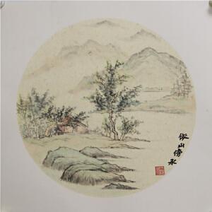 山水画《依山傍水》高忠明 R4783 一级美术师 上海国画院特聘画家