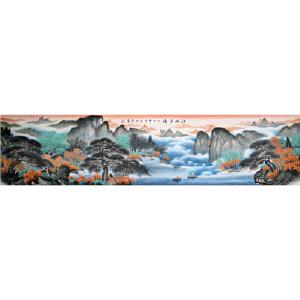 2.4米山水画《江山多娇》黄伟R3728  湖北美协