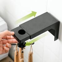 可伸缩旋转挂钩免打孔厨房墙壁置物架锅铲勺子厨具收纳挂架