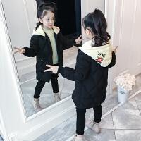儿童棉衣中长款冬季2018新款女孩棉服加厚外套