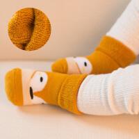 婴儿袜子0春秋冬3毛圈6中筒12个月1加厚加绒2岁男女宝宝
