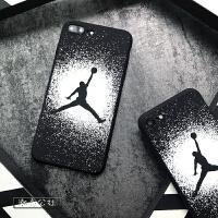 乔丹手机壳苹果6splus篮球飞人6保护套aj潮男7硅胶软壳8x全包防摔 苹果7/8 黑飞人