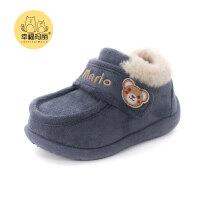 儿童棉鞋冬季鞋毛毛鞋冬鞋男女宝宝棉鞋加绒保暖1-3岁