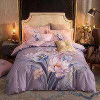 多喜�凵坛⊥�款加厚全棉磨毛四件套棉床单被套被单1.5米1.82.0秋冬季床上用品