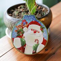 创意铃铛马口铁盒立体连盖圣诞节礼品盒糖果盒包装小盒子礼物圆盒 12*11*3.5cm