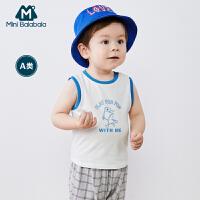 【99元任选3件:33元】迷你巴拉巴拉男宝T恤2020夏季新款童装儿童上衣婴儿纯棉短袖背心