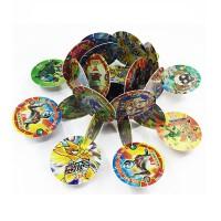奥特曼赛尔号积木卡槽塑料卡圆形游戏战斗卡片圆卡带卡口儿童玩具件卡通周边