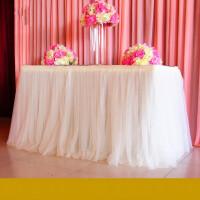 婚庆道具用品签到台甜品桌围雪纱婚庆背景纱幔布置桌围