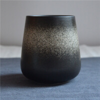 复古日式陶瓷杯子带盖勺咖啡杯个性创意定制马克杯情侣杯家用茶杯