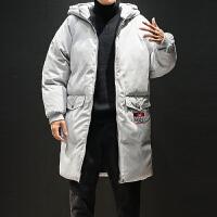 冬季新款加厚中长款棉衣男士韩版连帽棉服潮流冬天棉袄外套男
