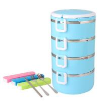 304不锈钢保温饭盒可爱便当盒学生日式多层分格饭盒网红饭盒