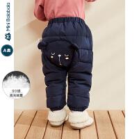 【每满299减100元】迷你巴拉巴拉婴儿羽绒PP裤男女宝宝保暖长裤2019冬装新品儿童裤子