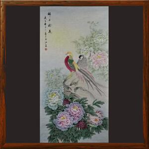 竖幅花鸟《锦上添花》于玉江ML5341 泰山画院常务院长 一级美术师 学院派