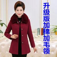 中老年女装秋冬装妈妈装毛呢外套中长款40-50岁加厚中年女装毛呢