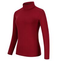 秋冬季女士长袖高领棉T恤修身大码显瘦上衣加厚打底衫内搭女衫