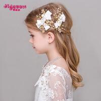 女童韩式花朵发夹发饰发箍花童头饰六一演出儿童礼服配饰头花边夹