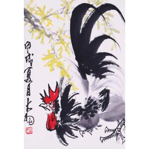 画家、书法家、篆刻家 陈大羽《大吉图》