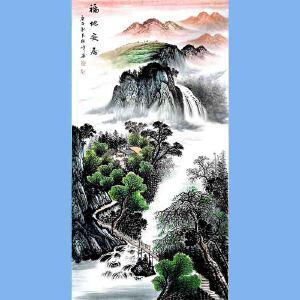 中国美术家协会会员,龙云书画院院长候桂峰(福地安居)