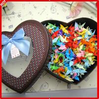 千纸鹤成品套装520粉色爱心礼盒DIY手工情人节礼物品千纸鹤折纸心形折纸送男女朋友创意礼品