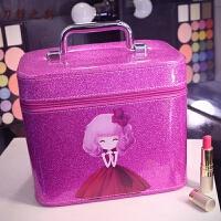 化妆包可爱少女心大容量化妆箱便携手提化妆品收纳盒