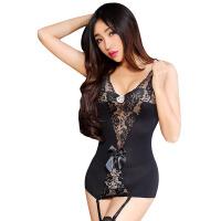 性感情趣内衣蕾丝马甲猫女郎制服黑丝袜激情用品套装女用7511 +头饰