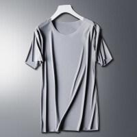 男士短袖T恤 夏季羊奶丝无痕透气舒适降温修身体恤打底衫 3X