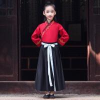 男童汉服中国风古装冬儿童唐装套装男孩国学服小书童中国风演出服