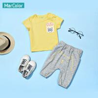 【清仓价:35】巴拉巴拉旗下马卡乐男童套装夏装小熊印花短袖T恤两件套
