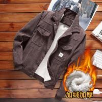 男士外套新款灯芯绒韩版休闲冬季加绒夹克潮流棒球服帅气上衣