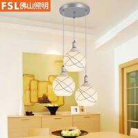 佛山照明led吊灯餐厅灯具三头吸顶餐吊灯饰现代简约创意餐桌吧台