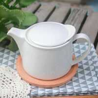 茶壶陶瓷家用酒店单壶出口日本泡茶花茶壶水杯白瓷大码茶具带过滤