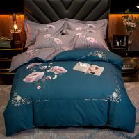 商场同款加厚全棉磨毛床上四件套网红款少女心棉床单被套床品套件