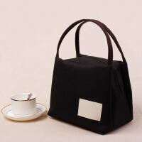 帆布手提包便当包保温饭盒袋女牛津布妈咪包饭盒包手提袋防水