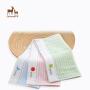 欧孕婴儿竹纤维双面条纹长童巾婴童洗脸巾小方巾
