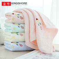 金号(KING SHORE)毛巾纯棉 6条装 加厚面巾儿童巾 宝宝洗脸巾 柔软吸水小毛巾