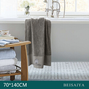 埃及长绒棉绣花浴巾70x140
