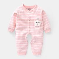 婴儿连体衣服春秋新生儿12女宝宝3男0岁哈衣6个月1睡衣满月9幼儿1