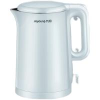 九阳电水壶1.5L升烧水壶家用电热水壶双层防烫304不锈钢开水煲W6121 蓝色