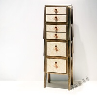 柜子斗柜实木整装收纳柜田园客厅简约现代储物柜欧式创意自由组合 整装