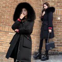 冬季加厚中长款羽绒服修身韩版女 S 建议80-100斤