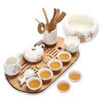 家用整套功夫茶具陶瓷现代简约盖碗喝茶壶